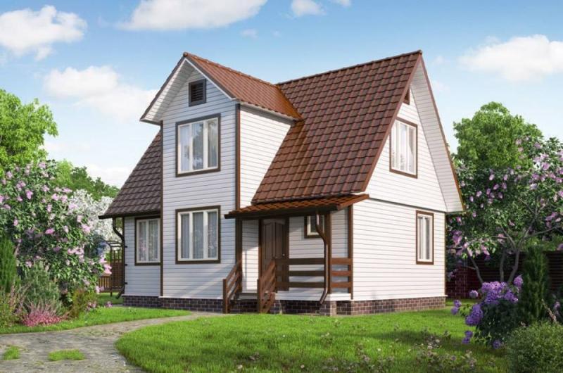 """Проект дома """"Ахайя"""", профилированный брус, 126 кв.м."""