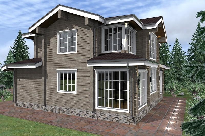 """Проект дома """"Полония"""", профилированный брус, 338 кв.м."""