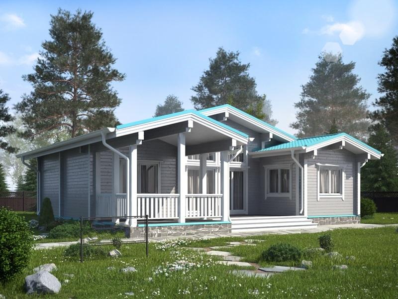 """Проект дома """"БД-292"""", профилированный брус, 169 кв.м."""