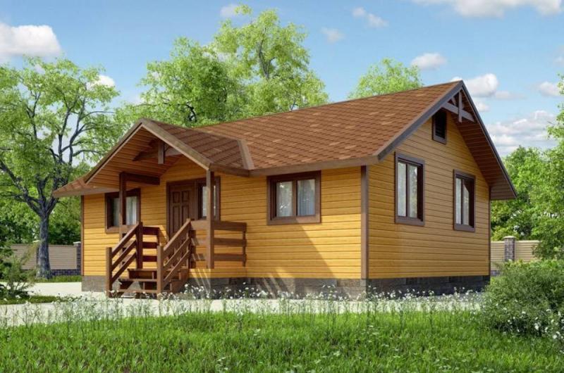 """Проект дома """"Балатон"""", профилированный брус, 41.13 кв.м."""