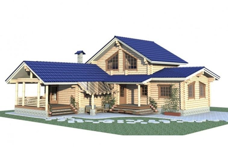"""Проект дома """"Тампере"""", профилированный брус, 225 кв.м."""