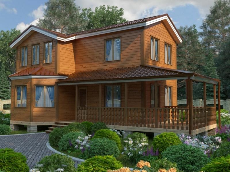 """Проект дома """"Эвбея"""", профилированный брус, 168 кв.м."""