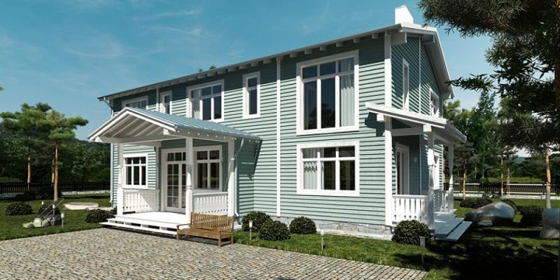 """Проект дома """"Мента"""", профилированный брус, 300 кв.м."""