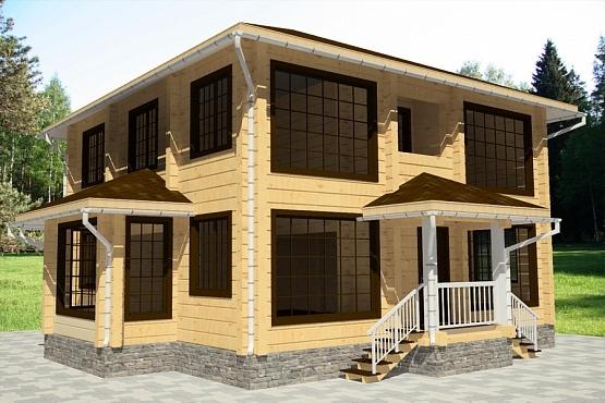 """Проект дома """"Актион"""", профилированный брус, 260 кв.м."""