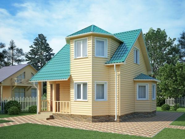 """Проект дома """"Сюзи"""", профилированный брус, 42 кв.м."""