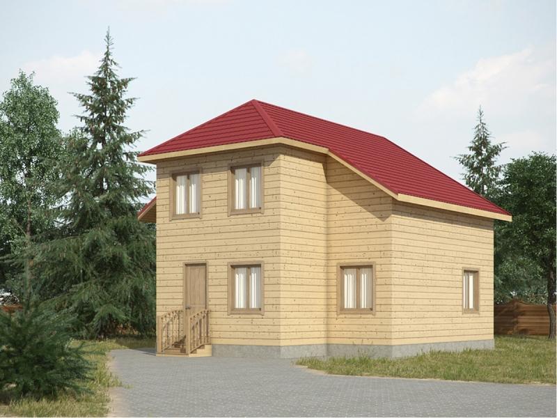 """Проект дома """"Дембовска"""", профилированный брус, 128 кв.м."""