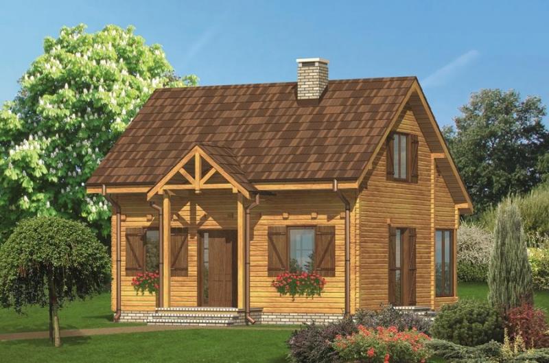 """Проект дома """"Лесной"""", профилированный брус, 72 кв.м."""