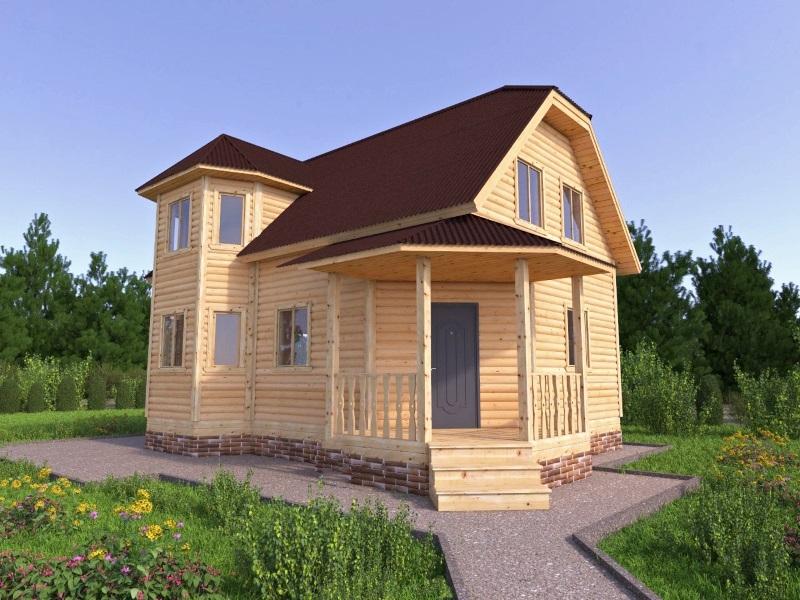 """Проект дома """"Алагаста"""", профилированный брус, 120 кв.м."""