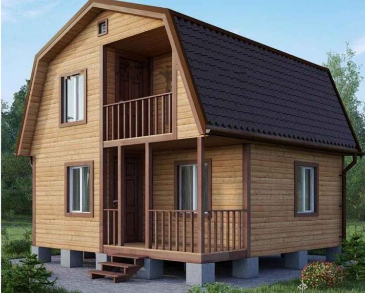 """Проект дома """"Орнамента"""", профилированный брус, 42.3 кв.м."""