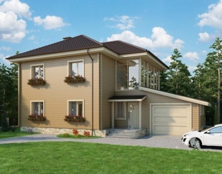 """Проект дома """"БД-267"""", профилированный брус, 300 кв.м."""