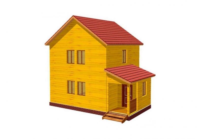 """Проект дома """"Ролландия"""", профилированный брус, 96 кв.м."""