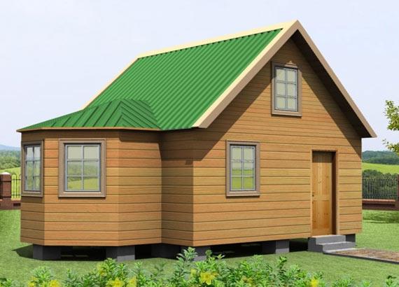 """Проект дома """"Балтия"""", профилированный брус, 45 кв.м."""