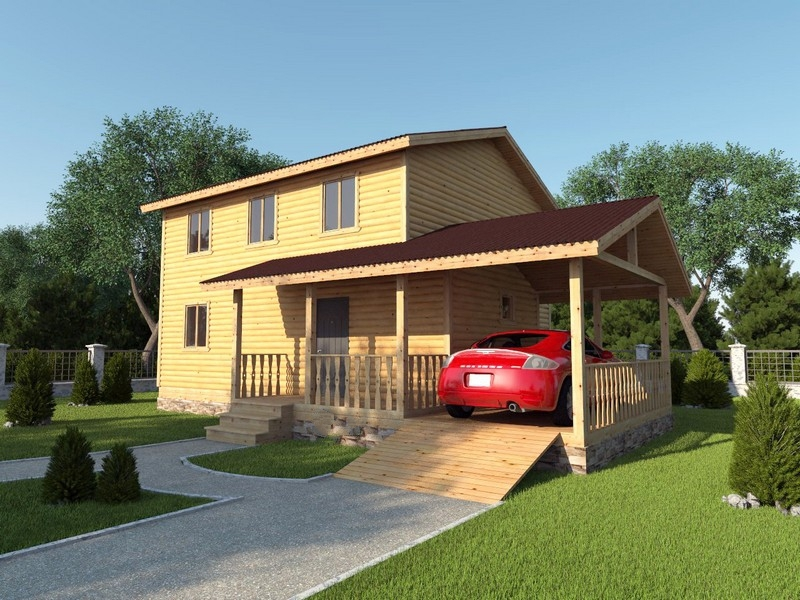 """Проект дома """"Берта"""", профилированный брус, 216 кв.м."""