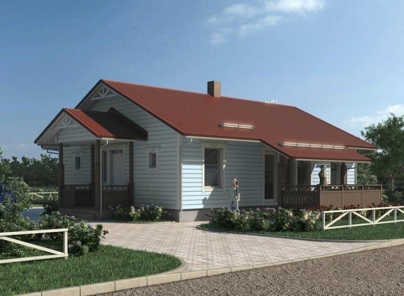 """Проект дома """"Берри"""", профилированный брус, 108 кв.м."""