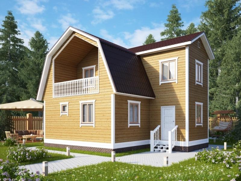 """Проект дома """"Груневельд"""", профилированный брус, 120 кв.м."""