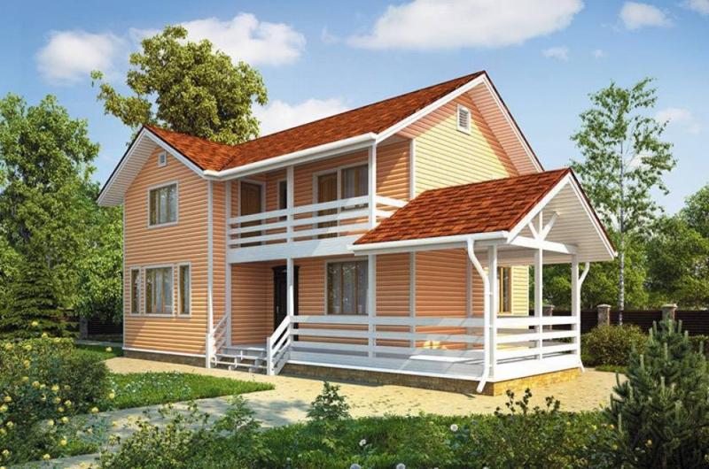 """Проект дома """"Бальман"""", профилированный брус, 160 кв.м."""