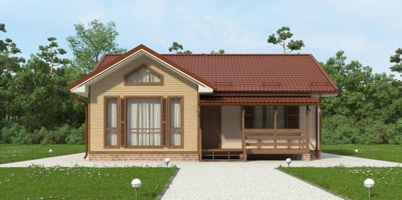 """Проект дома """"Сцилла"""", профилированный брус, 110 кв.м."""