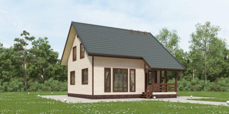 """Проект дома """"Ахсау"""", профилированный брус, 114.3 кв.м."""