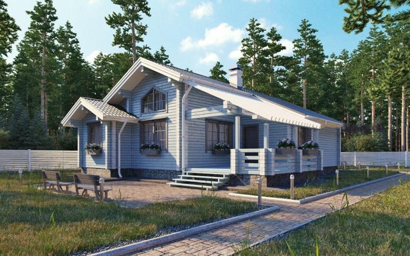 """Проект дома """"Персей"""", профилированный брус, 144 кв.м."""