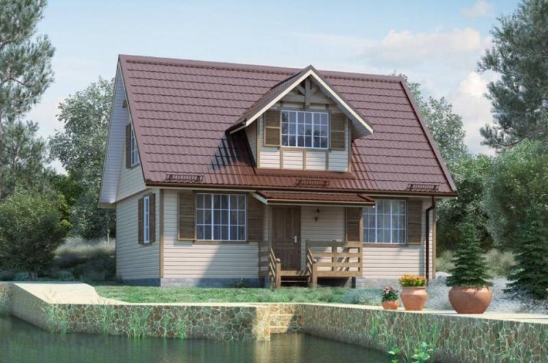 """Проект дома """"Аура"""", профилированный брус, 126 кв.м."""