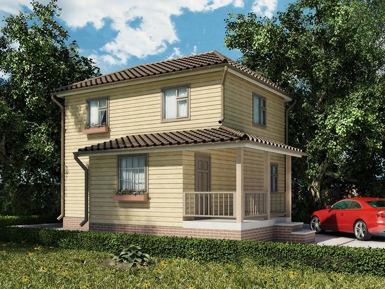 """Проект дома """"Варг"""", профилированный брус, 128 кв.м."""