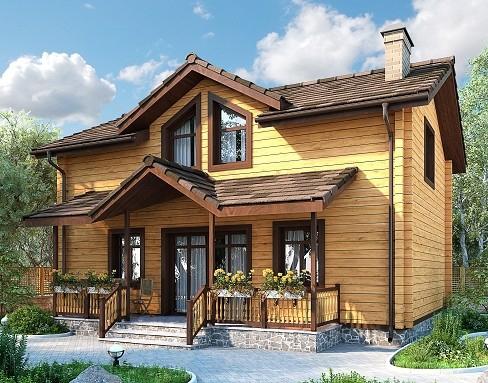 """Проект дома """"Брааль"""", профилированный брус, 80 кв.м."""