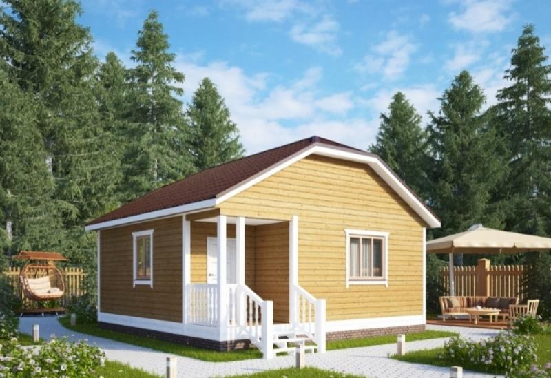 """Проект дома """"Эгла"""", профилированный брус, 42.05 кв.м."""