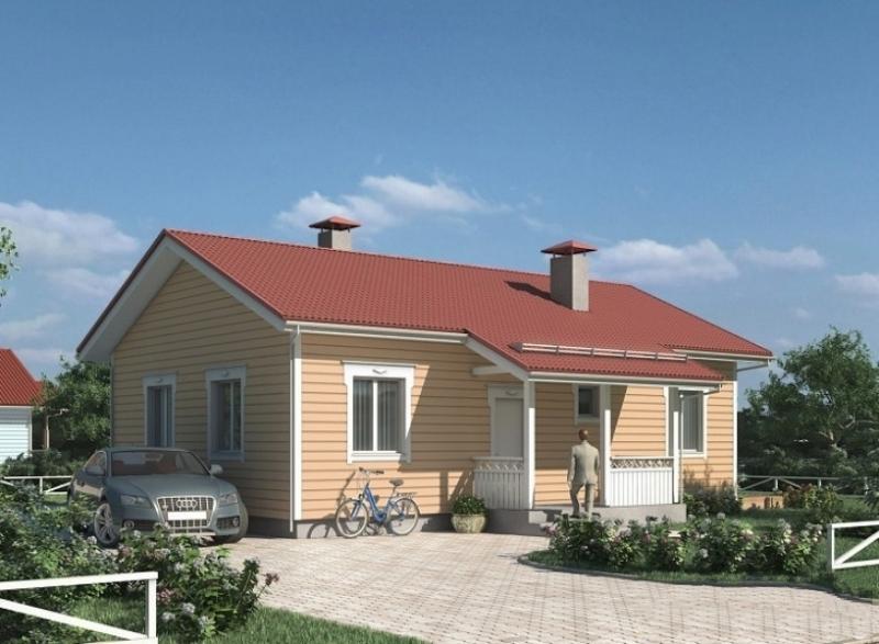 """Проект дома """"Голия"""", профилированный брус, 110 кв.м."""