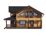 Дома из бруса камерной сушки с балконом