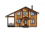 Двухэтажные дома из профилированного бруса